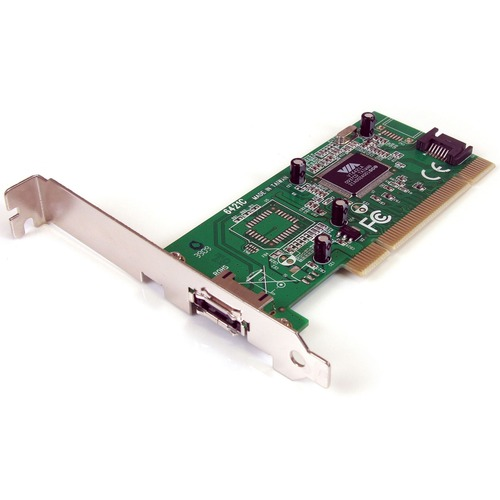 StarTech.com 1 Port eSATA plus 1 Port SATA PCI SATA Controller Card w/ LP Bracket - 1 x 7-pinFemale Serial ATA/150 External SATA