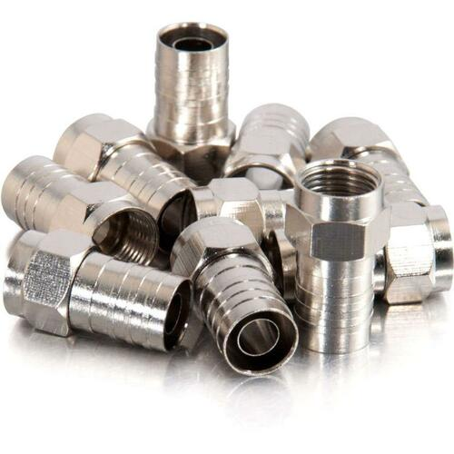 C2G RG6 Hex Crimp F-Type Connector | 50pk