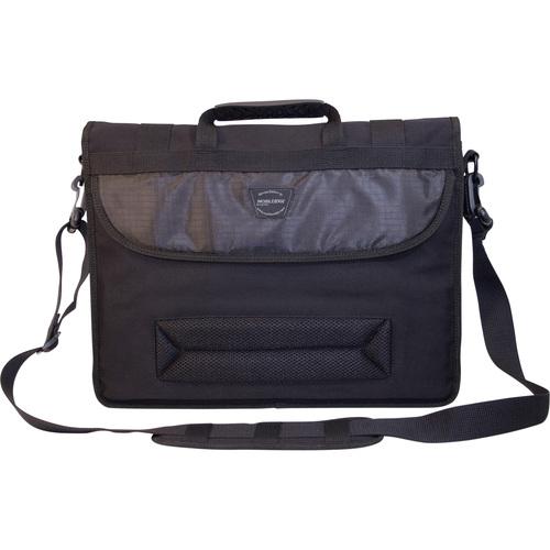 Eco-Friendly Canvas Messenger Bag Cotton Canvas - Black