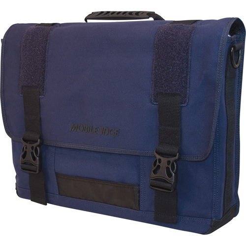 Eco-Friendly Canvas Messenger Bag Cotton Canvas - Navy