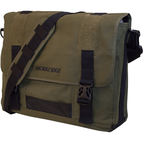 Eco-Friendly Canvas Messenger Bag Cotton Canvas -Green
