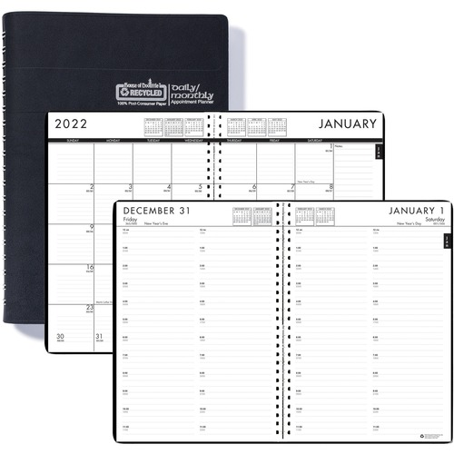 house of doolittle recycled daily monthly 24 7 appointment planner