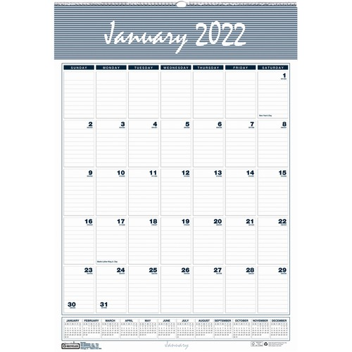December 2014 January 2020 Calendar House of Doolittle Bar Harbor 12 Month Wall Calendar   Yes