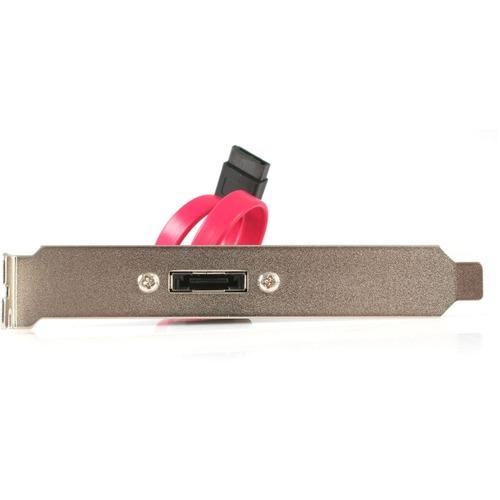 StarTech.com 1 Port SATA to eSATA Slot Plate Bracket - eSATA - Male SATA - 0.3m
