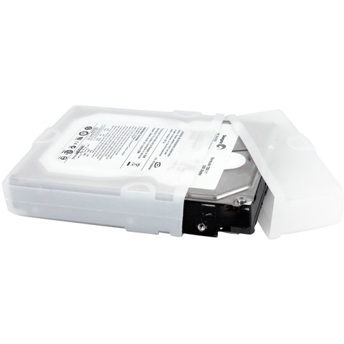 StarTech.com 3.5in Silicone Hard Drive Protector Sleeve with Connector Cap - Silicone - Clear