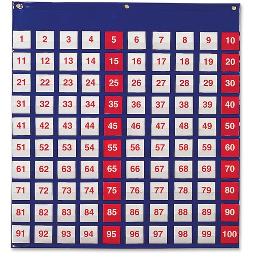 Learning Resources Hundred Pocket Chart - Theme/Subject: Learning - Skill Learning: Counting, Odd Number, Even Number, Number, Multiplication - 5+ - 1 Each