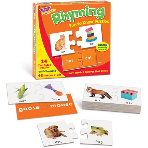 Trend Rhyming Fun to Know Puzzles - 48 Piece