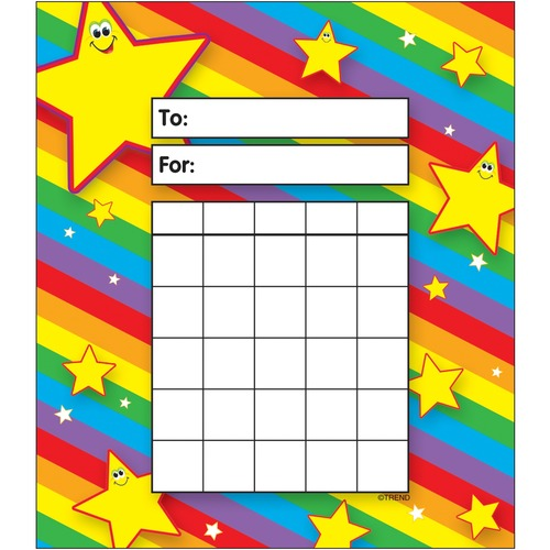 Trend Stars Incentive Pad - Theme/Subject: Learning - Skill Learning: Building, Goal - 36 / Pad