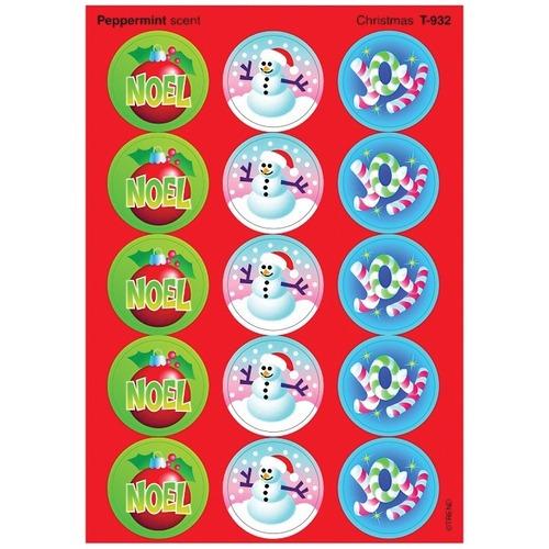 Trend Christmas - Peppermint - Fun, Encouragement, Christmas Theme/Subject - Self-adhesive - Acid-free, Non-toxic, Photo-safe - 60