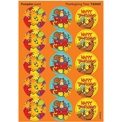 Trend Thanksgiving Time - Pumpkin - Encouragement, Fun Theme/Subject - Self-adhesive - Acid-free, Photo-safe, Non-toxic - 60