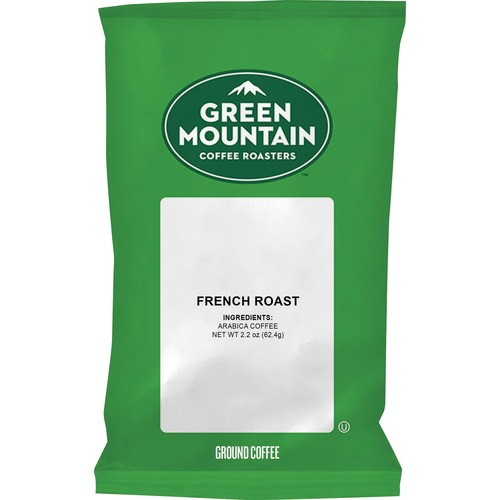 Green Mountain Coffee French Roast Coffee - Regular - French Roast - Dark/Bold - 2.2 oz Per Pack - 50 / Carton