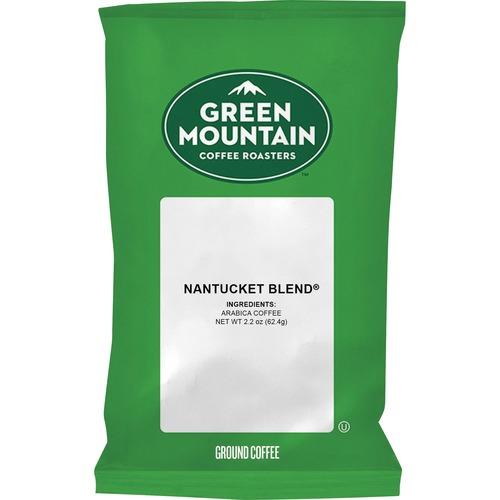 Green Mountain Coffee Nantucket Blend Coffee - Regular - Nantucket Blend - Medium - 2.2 oz - 50 / Carton