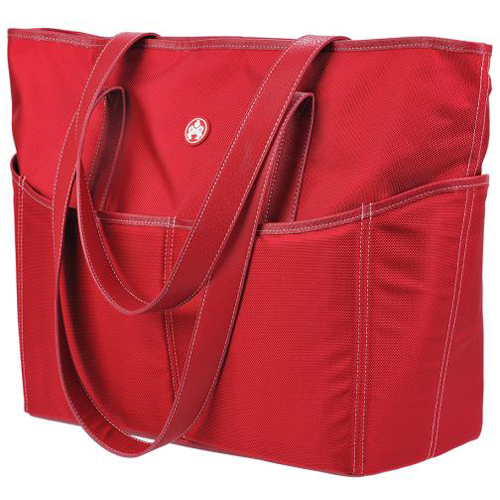 SUMO Large Tote - Red with White stitching. One Size Fits All - from the Beach to the Classroom.
