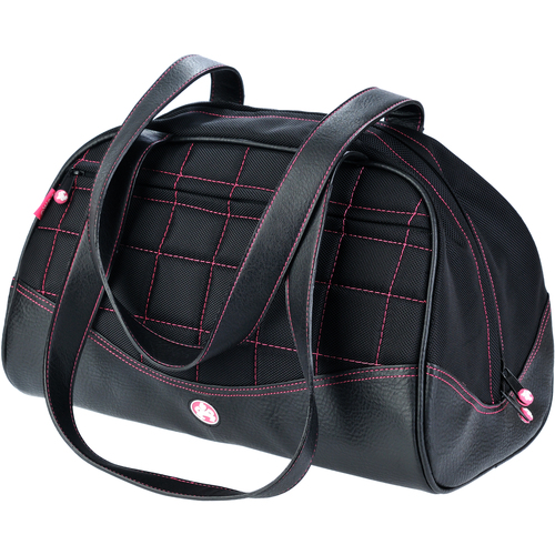 SUMO Duffel - Black w/Pink Stitching - Large. Large enough to be your new carry on or diaper bag.