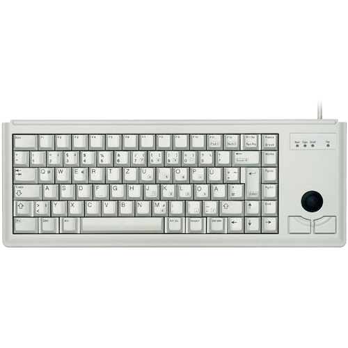 CHERRY G84-4400 Keyboard - Cable Connectivity - Light Grey