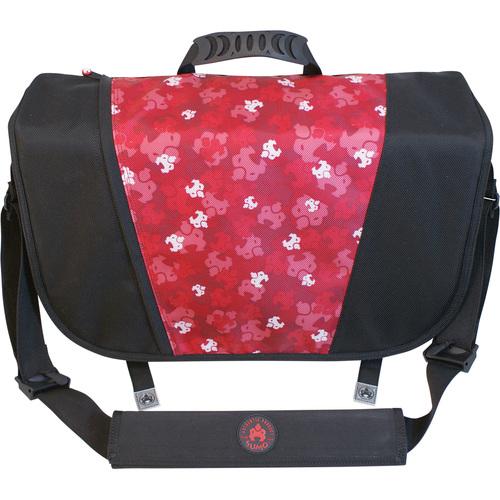 MESSENGER BAG - BLACK/RED FOR 16 SCREENS
