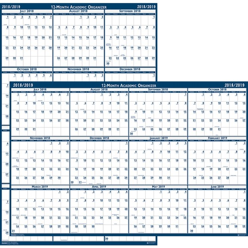 at a glance erasable reversible yearly wall planner reverse side