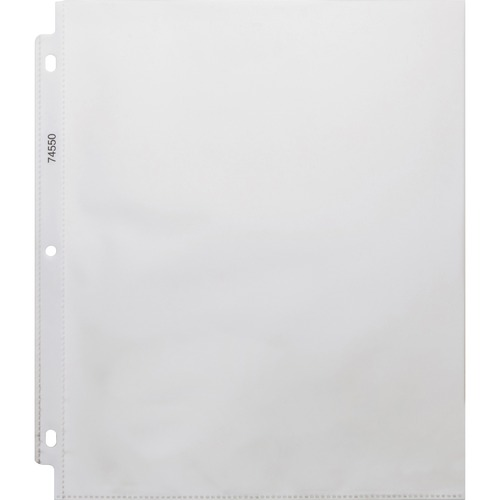 """Business Source Top-Loading Poly Sheet Protectors - 0"""" Thickness - For Letter 8 1/2"""" x 11"""" Sheet - Ring Binder - Rectangular - Clear - Poly - 100 / Box"""