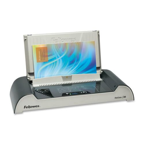 """Fellowes Helios™ 30 Thermal Binding Machine - 3.94"""" (100.08 mm) x 20.88"""" (530.35 mm) x 9.44"""" (239.78 mm) - Charcoal, Silver"""
