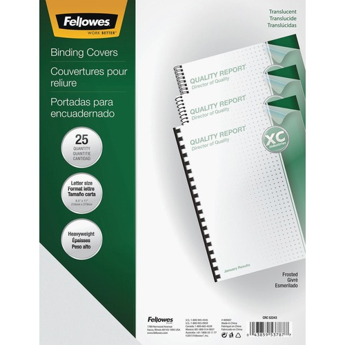 Fellowes Futura Presentation Covers Letter, Frosted 25 pack