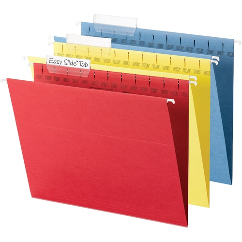 """Smead TUFF Hanging Folders with Easy Slide Tab - Letter - 8 1/2"""" x 11"""" Sheet Size - 1/3 Tab Cut - Top Tab Location - Assorted Position Tab Position -"""