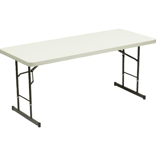"""Iceberg IndestrucTable TOO 1200 Series Adjustable Folding Table - Rectangle Top - 4 Legs - 72"""" Table Top Length x 30"""" Table Top Width x 2"""" Table Top T"""