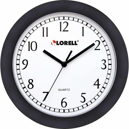 "Lorell 9"" Round Profile Wall Clock - Quartz"