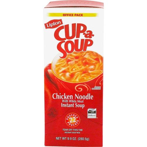 Lipton® /Unilever Chicken Noodle Cup-A-Soup - Low Calorie - Cup - 1 Serving Cup - 12.8 g - 22 / Box