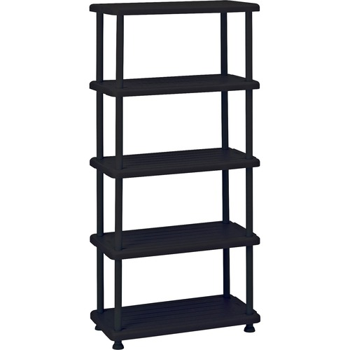 "Iceberg Rough 'N Ready 5-Shelf Open Storage System - 36"" x 18"" x 74"" - 5 x Shelf(ves) - 900 lb Load Capacity - Durable, Dent Proof, Scratch Resistant,"