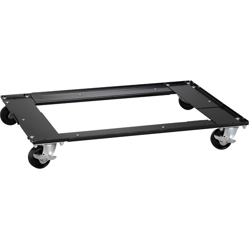 """Hirsh Commercial Cabinet Dolly - 453.59 kg Capacity - 4 Casters - Metal - x 5.5"""" Width x 27"""" Depth x 5.5"""" Height - Black - 1 Each"""