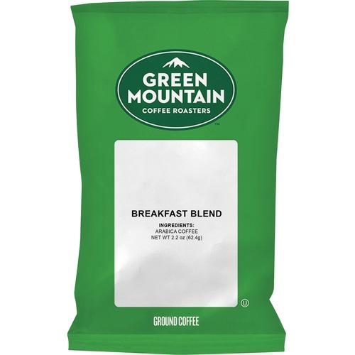 Green Mountain Coffee Roasters Breakfast Blend Coffee - Regular - Light/Mild - 100 / Carton