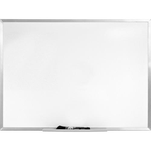 "Quartet Economy Dry-Erase Board - 36"" (3 ft) Width x 24"" (2 ft) Height - Anodized Aluminum Frame - 1 Each"