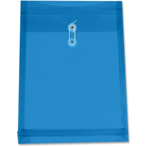 "Winnable Letter Vinyl File Pocket - 8 1/2"" x 11"" - 1 1/4"" Expansion - Poly - Blue - 1 Each"