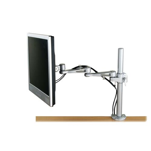 """Exponent Microport Mounting Arm for Flat Panel Display - Silver - 21"""" Screen Support - 9.98 kg Load Capacity - 1 Each"""