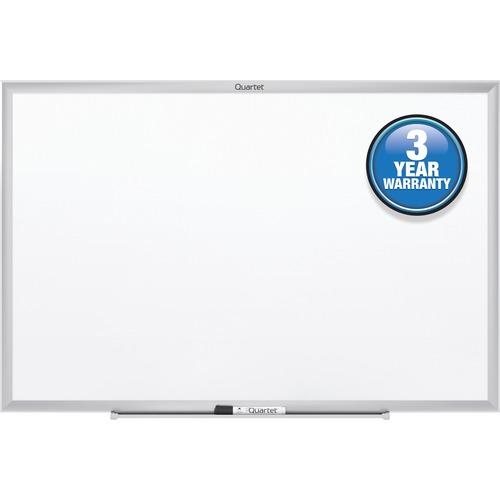 "Quartet Marker Board - 96"" (8 ft) Width x 48"" (4 ft) Height - White Surface - Anodized Aluminum Frame - 1 Each"