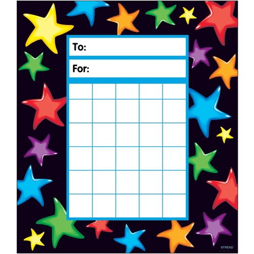 Trend Gel Stars Incentive Pad - Theme/Subject: Learning - Skill Learning: Building, Goal - 1 Pack