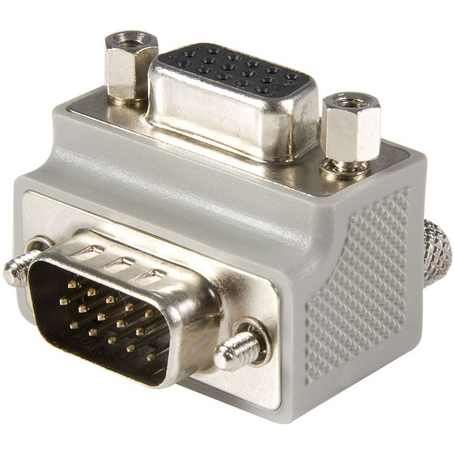 StarTech.com VGA adapter cable - Type 1 - right angle VGA m 1 x HD-15 Male VGA - 1 x HD-15 Female VGA