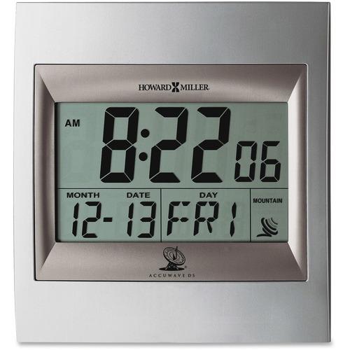Howard Miller Radio Control LCD Alarm Clock - Digital - Atomic