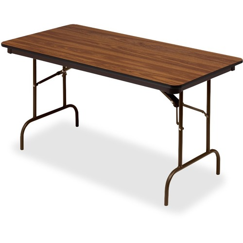 """Iceberg Premium Wood Laminate Folding Table - Melamine Rectangle Top - 60"""" Table Top Length x 30"""" Table Top Width x 0.75"""" Table Top Thickness - 29"""" He"""