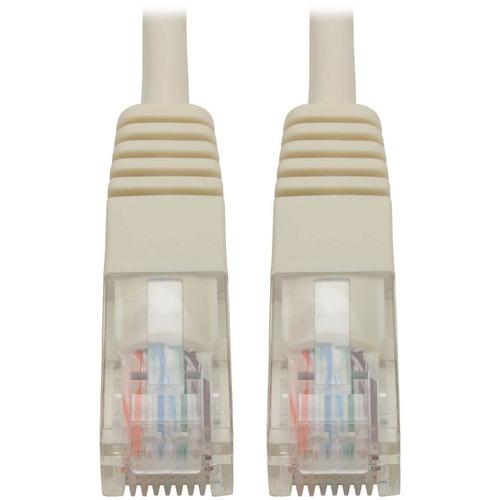 Tripp Lite 3ft Cat5e / Cat5 350MHz Molded Patch Cable RJ45 M/M White 3'