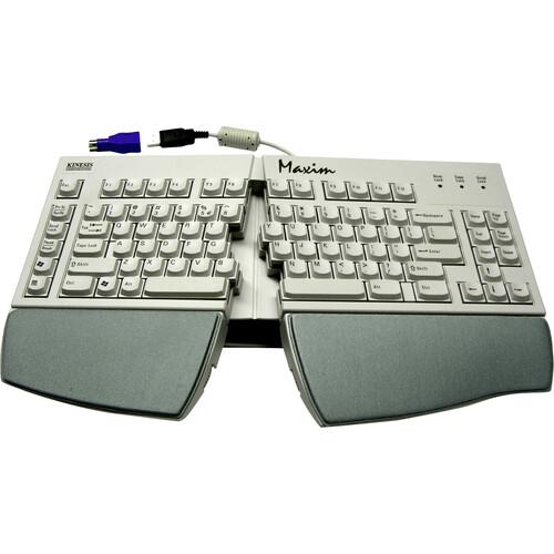 Kinesis Maxim Split Adjustable Keyboard for PC, US English Legending, Beige