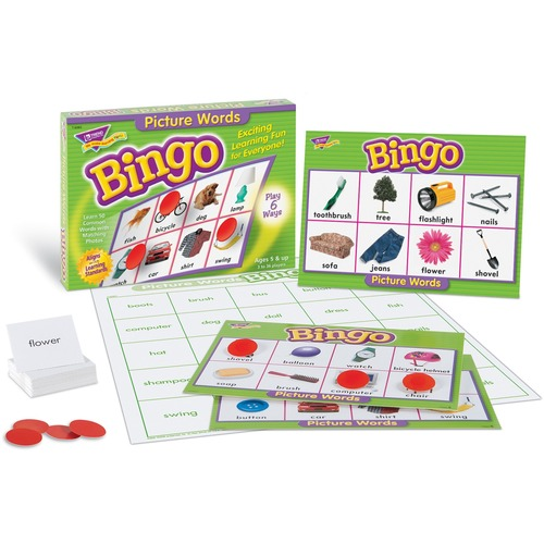 Trend Picture Words Bingo Game - 3 to 36 Players Set