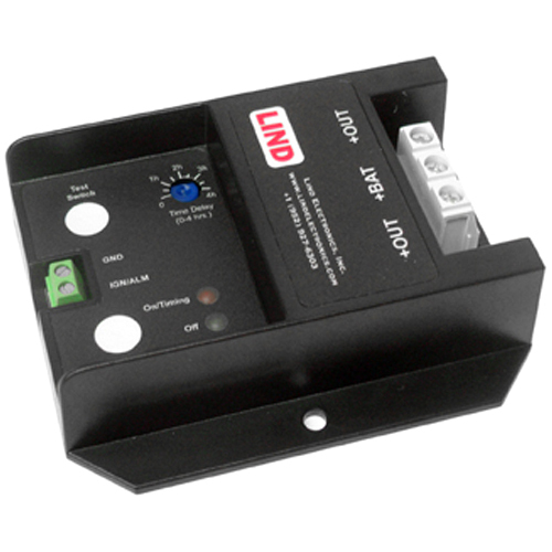 Lind Low Profile Shutdown Timer to Protect Vehicle Battery From Over Discharge. LPT Turns Off Electrical Loads at a Preset Time After Car Engine is Shut Down