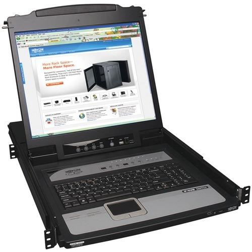 TRIPP LITE 8PORT CONSOLE IP KVM SWITCH 1U RM W/19IN LCD TAA/GSA