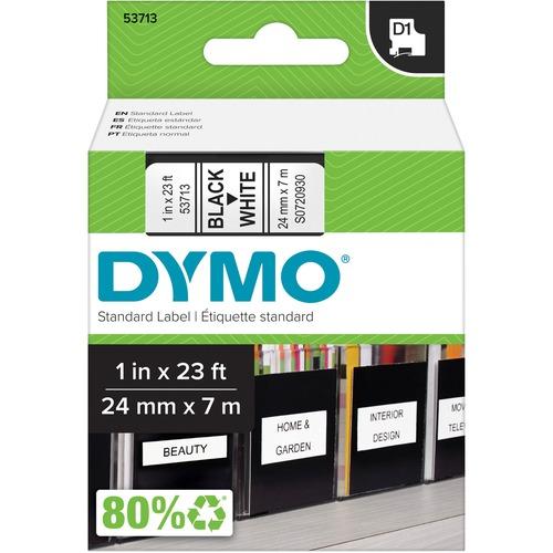 DYMO BLACK PRINT/WHITE TAPE 1INX23FT .