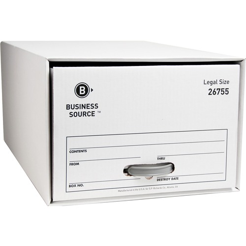 """Business Source Drawer Storage Boxes - External Dimensions: 15.5"""" Width x 23.3"""" Depth x 10.3""""Height - Media Size Supported: Legal - Light Duty - Stack"""