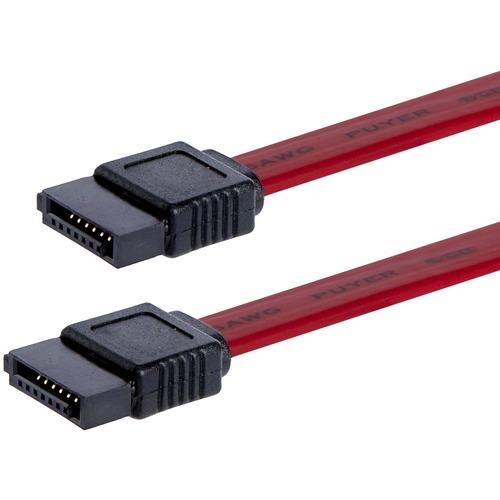 StarTech.com 12in SATA Serial ATA Cable - Male SATA - Male SATA - 12 - Red