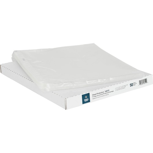 """Business Source Top-Loading Poly Sheet Protectors - 0"""" Thickness - For Letter 8 1/2"""" x 11"""" Sheet - Rectangular - Clear - Polypropylene - 50 / Box"""