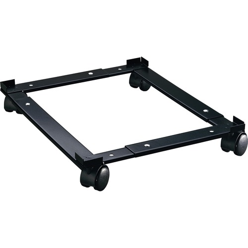 """Lorell Commercial File Caddy - 181.44 kg Capacity - 4 Casters - Steel - x 16.6"""" Width x 4"""" Depth x 11.4"""" Height - Black - 1 Each"""