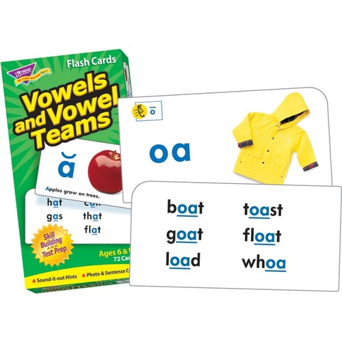 Trend Vowels and Vowel Teams Skill Drill Flash Cards - Set
